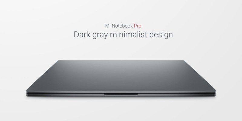 Xiaomi Notebook pro Grey Design
